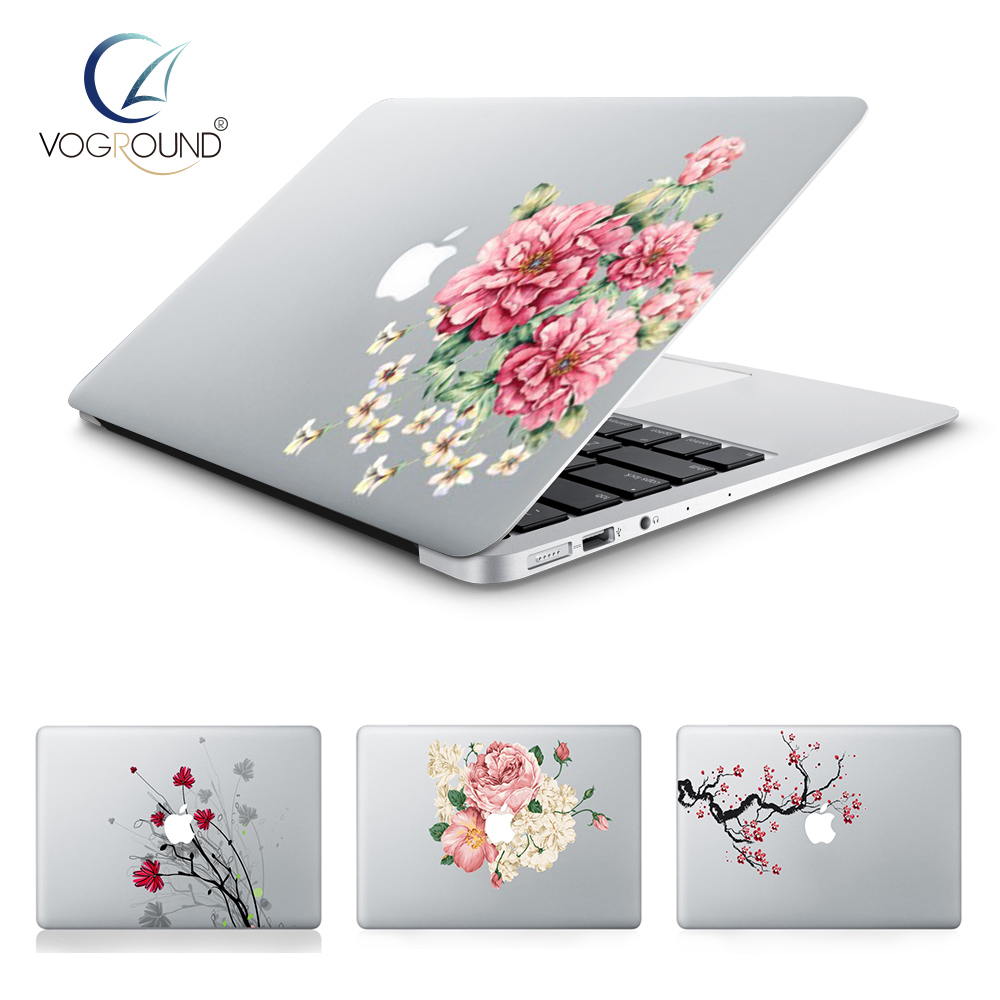 VOGROUND Brand New Hot Ultra Thin Round Flower Anti-Scratch Vinyl Sticker Decal for Macbook 11 12 13 15 inch ...