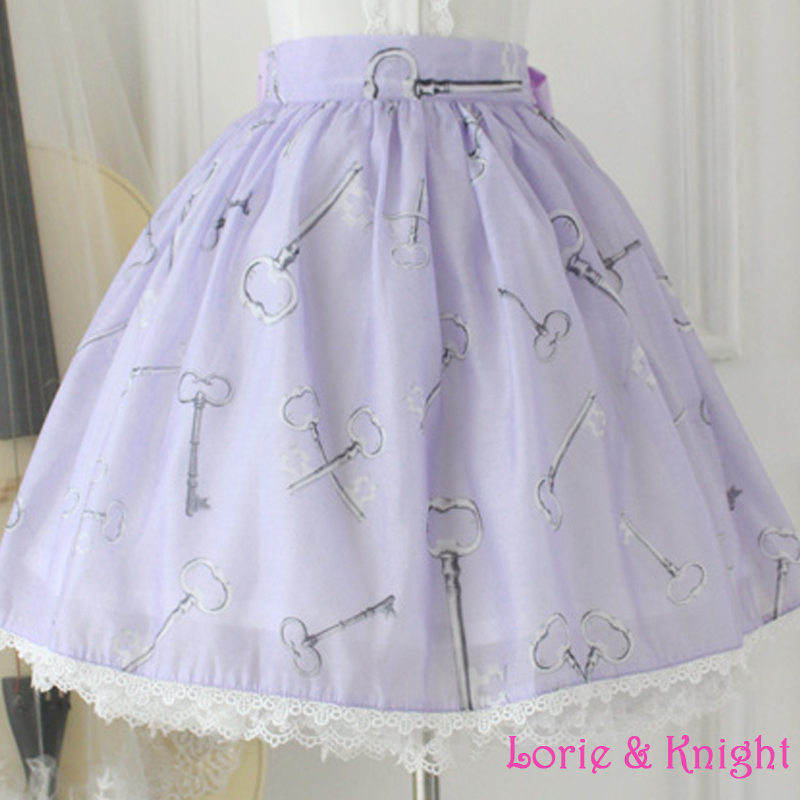 2063e01e5 Fairy Tale Alice in Wonderland Series Sweet Retro Print Organza Lolita Skirt /LIGHT BLUE/PINK/PURPLE-in Skirts from Women's Clothing on Aliexpress.com  ...