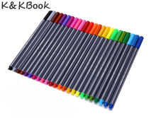 K KBOOK 24 Colors 0 4mm Fine Tip Art font b Marker b font Pen Superfine