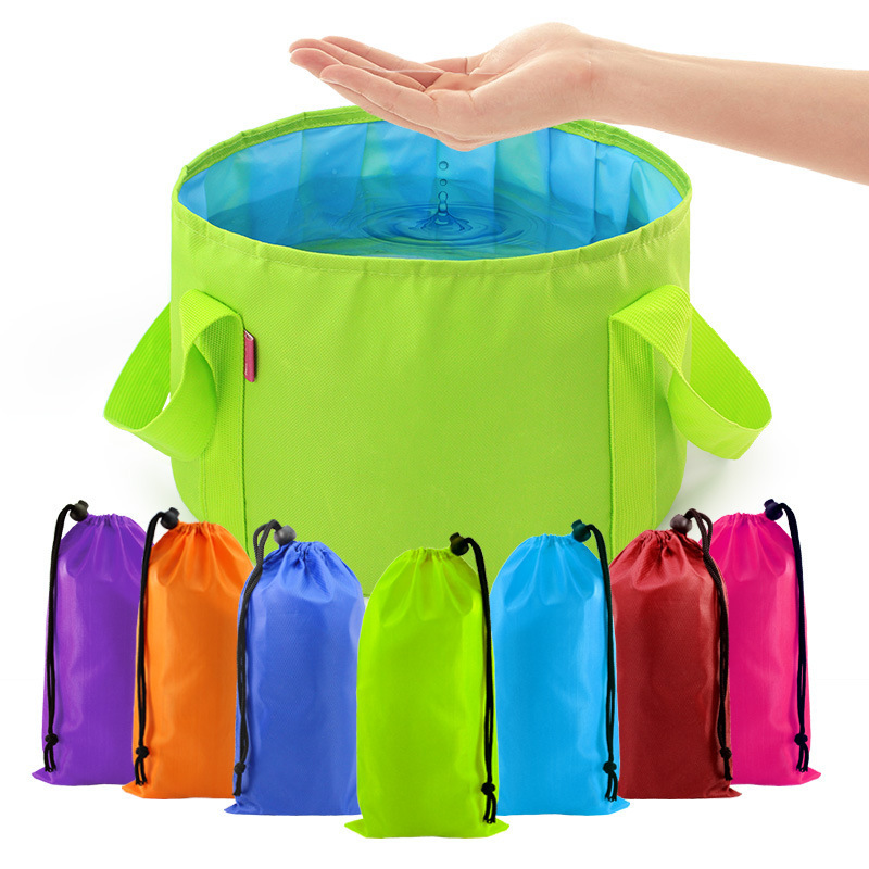 Portable Folding Basin Travel Foot Bag Wash Bucket Outdoor Travel Camping Bubble Water Bag Travel Laundry Wash Basin Laundry Bag