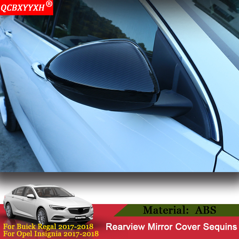 QCBXYYXH Car styling Rearview Mirror Cover Frame Sticker Sequin Exterior Auto Decoration For Buick Regal 2017