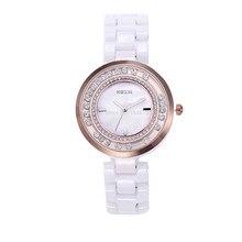 Free Delivery Kezzi Girls's Girls Watch Okay846 Quartz Analog Ceramic Costume Wristwatches Presents Bracelet Informal Waterproof relogio