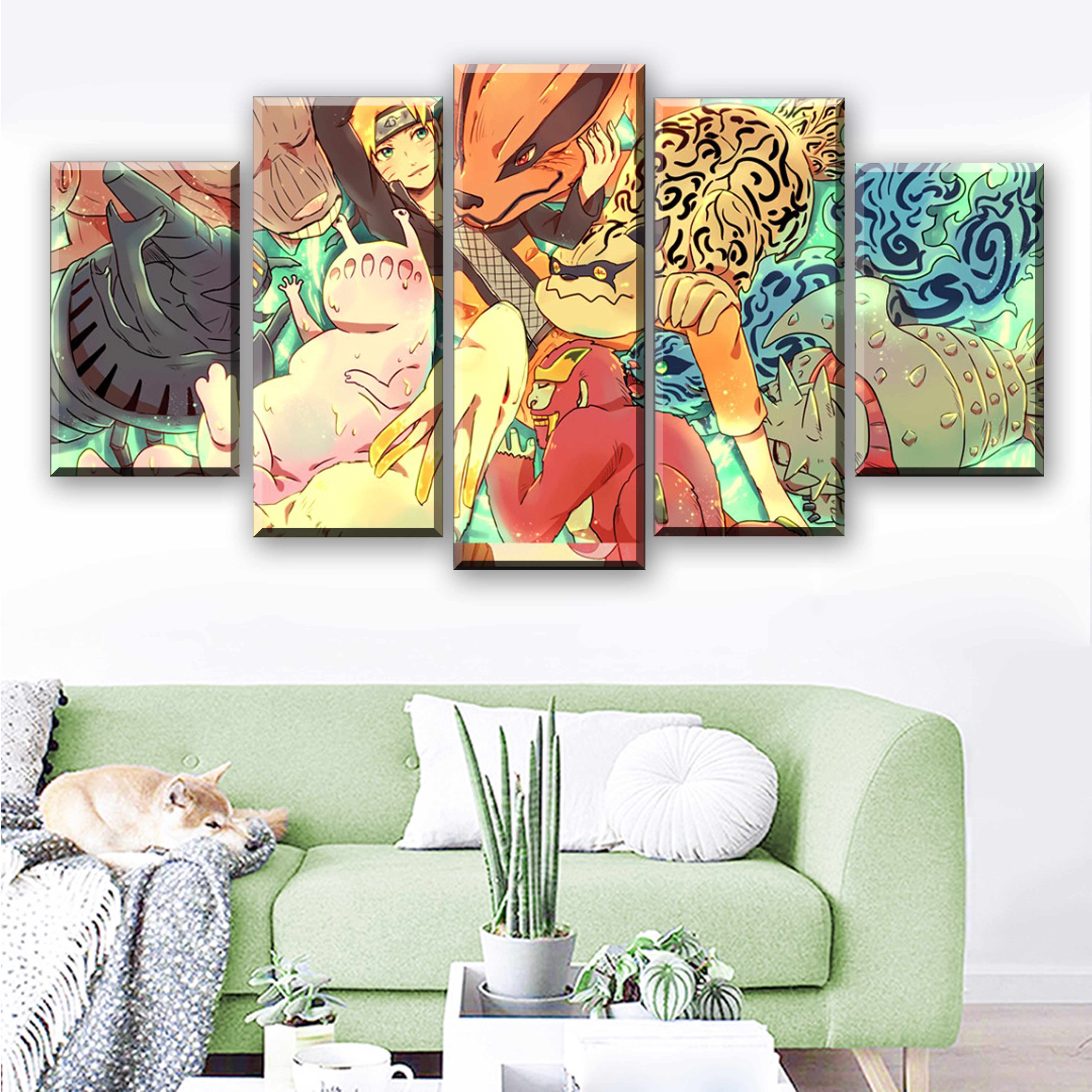5 Pieces Canvas Painting Naruto Poster Anime Quadri Su Tela Per Soggiorno Pintura Posters And Prints Living Room Drop Shipping in Painting Calligraphy from Home Garden