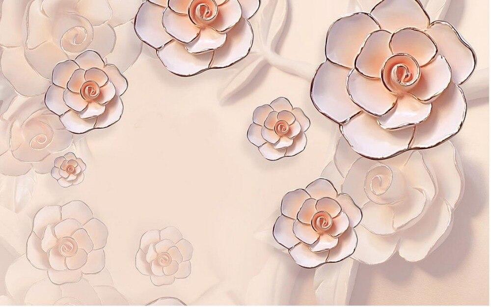 ⑤Foto del papel pintado personalizado wallpaper relieve 3d peonía ...