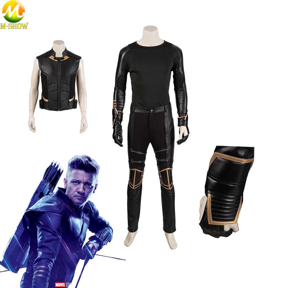 Avengers Endgame Hawkeye Cosplay Avengers 4 Clinton Barton Cosplay Pants Vest Gloves Cosplay Accessories For Halloween