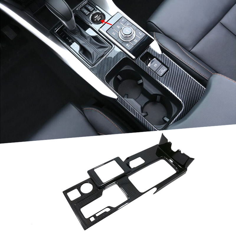 For Left Hand Drive 2PCS Car Inner Gear Box Panel Decoras Sticker Cover Trim For Mitsubishi