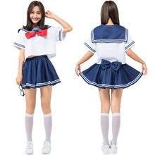 Umorden Japanese Anime Sailor Moon Costume Tsukino Usagi Cosplay Women Teen Girls Blue Navy Uniform Halloween Costumes