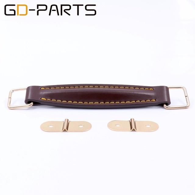 buy gd parts vintage leather handle strap for marshall fender guitar amplifier. Black Bedroom Furniture Sets. Home Design Ideas