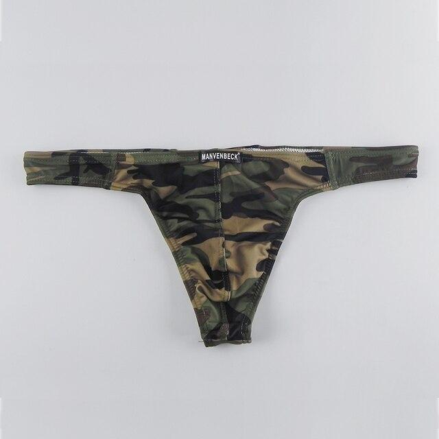גברים מחרוזת חוטיני תחתוני הומו הסוואה נמוכה עלייה T בחזרה Mens הלבשה תחתונה סקסי גברים חוטיני G מחרוזת תחתוני גברים
