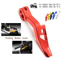 цена на High Quality Laser Printing CNC Motorcycle Parking Brake Lever For Yamaha TMAX 500 T-MAX 500 2008-2011 T-MAX TMAX 530 2012-2016