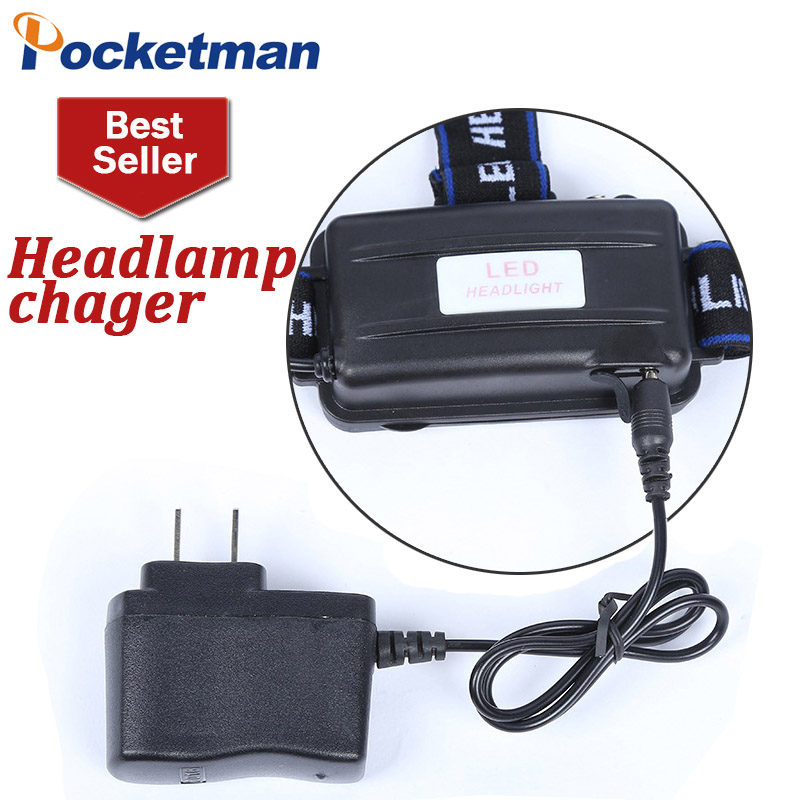 T6 Headlamp Charger Head Light  Light  18650 Battery Charge Charging