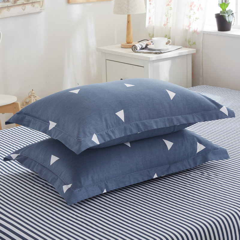 Pillow-Case Throw Rectangle Cotton Solid Adornment Washable Home-Bed 301-0822 Super-Soft