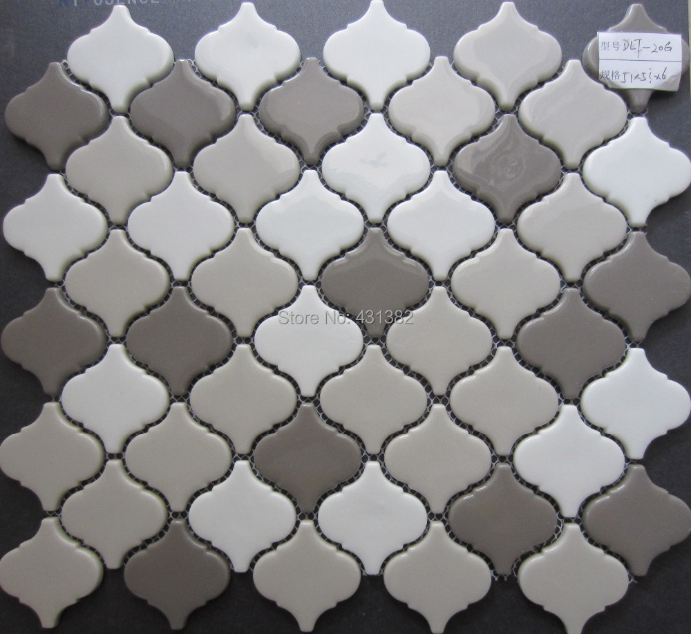 Full Body Design Crystal Mosaic Tiles, Lantern Shape