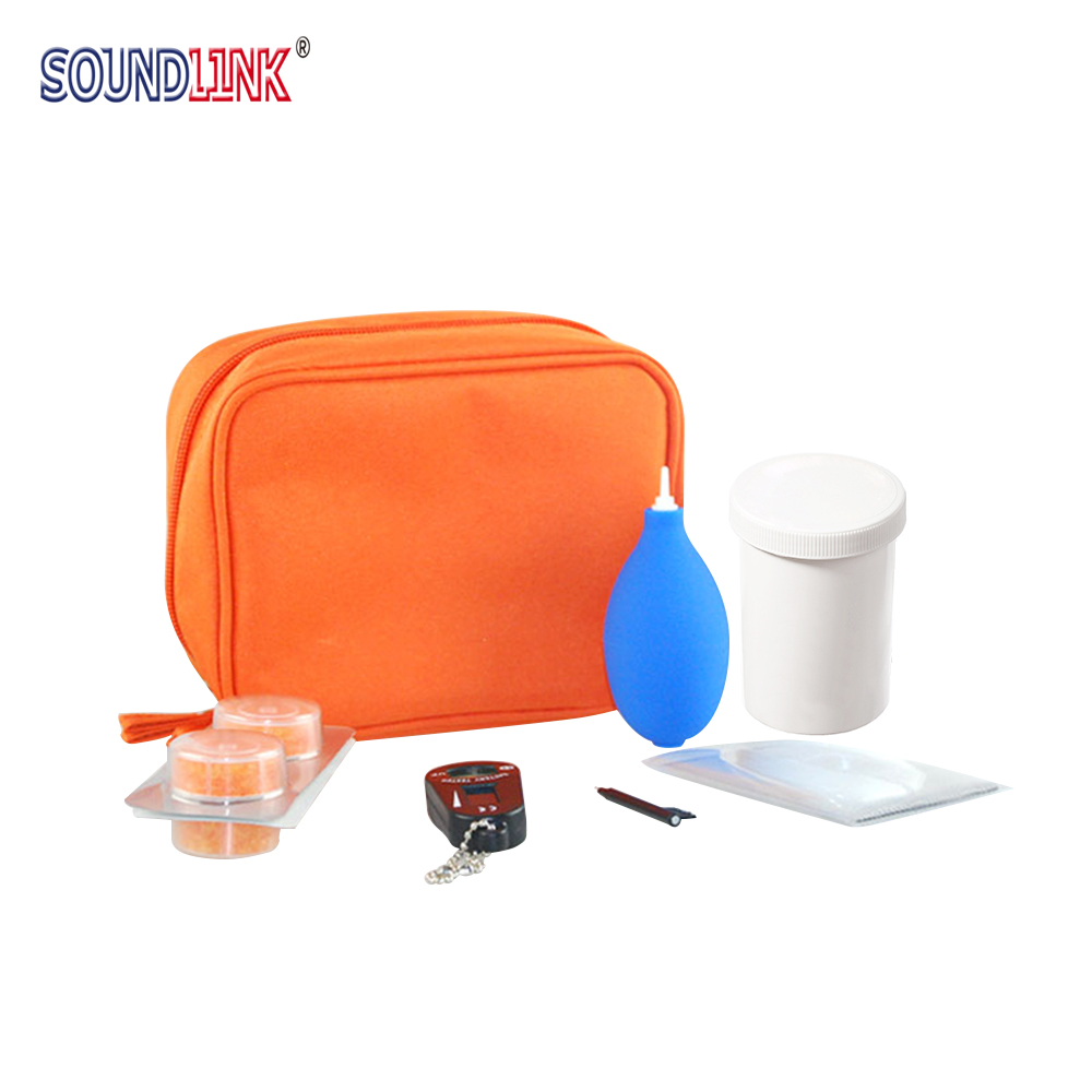 Hearing Aid Drying Kit Dessicant Drying Jar Battery Tester Cleaning Buffer Earwax Removing Tool 7 In 1