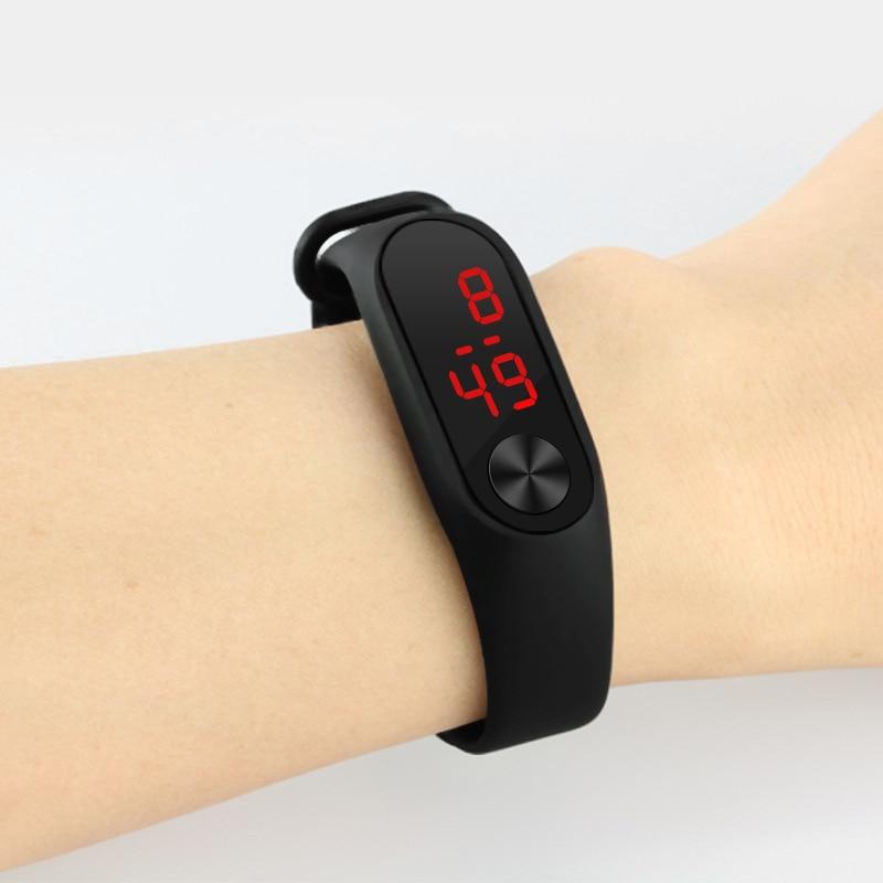 Sport Digital Wristband Watches Men Women Boys Girls Electronic Clock Acrylic LED Bracelet Watch Reloj Digital