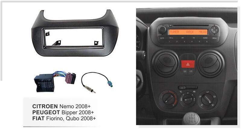 Car Facia Harness Antenna for Citroen Nemo Peugeot Bipper Fiat Fiorino Qubo 2008 Radio Bezel Panel