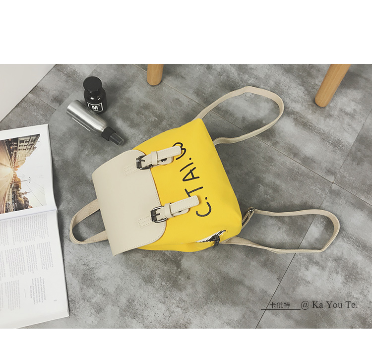2018 new women's bag fashion canvas backpack female Korean version of the campus Laptop backpack ins casual personality package 63