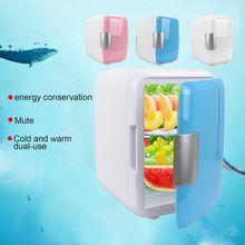 Мини-холодильник двойного назначения, Ультра тихий автомобильный холодильник с низким уровнем шума, морозильная камера, охлаждающая и нагревательная коробка