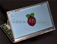 Raspberry Pi 7 Inch 1024*600 LCD Screen Display Monitor with Driver Board ( HDMI VGA 2AV ) & Transparent Clear Acrylic Bracket
