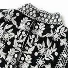Palace Tiefem V ausschnitt Frauen Spitze Shirts Punk figurbetontes Sexy Shirts Langarm Schwarz Spitze Hemd Unterwäsche - 5