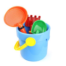 TELOTUNY 4Pcs/set Summer Beach Sand Play Water Toys Kids Seaside Bucket Shovel Rake Kit Play Toy Children Dredging Tools Z0524(China)