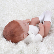 10 inch Lovely Mini Reborn Babies Boy Realistic Lifelike Full Vinyl Handcraft  Newborn Baby Doll For Kids NPKDOLL Christmas Gift