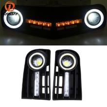 POSSBAY светодиодный DRL Габаритные огни для VW Golf MK5 2004-2009 Ангел глаз противотуманных фар решетки переднего бампера стайлинга автомобилей