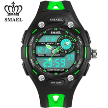 New Children Watches SMAEL Sport Watch Dual Time Display Watproof Shock Resistant Date Writwatch Cartoon Watch Kids Gift WS1339