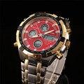 Fashion Digital Watches Men Led Full Steel Gold Male Clock Men Military Wristwatch Quartz Sports Watch Relogio Masculino