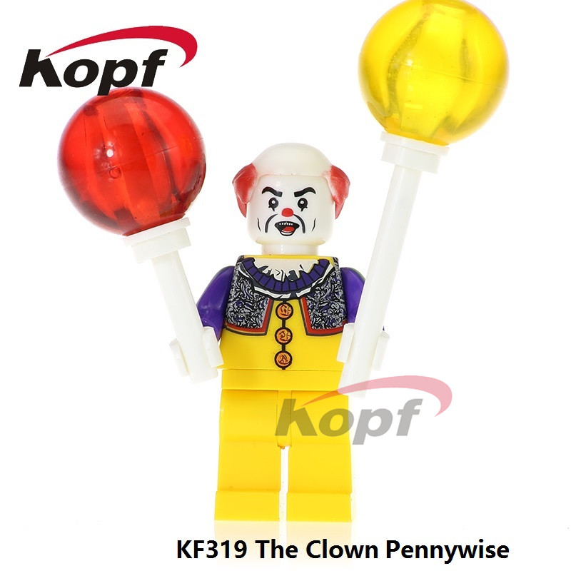 Single Sale Super Heroes The Clown Pennywise Joker Michael Jackson Bricks Building Blocks Christmas Toys for children KF319 the joker the clown prince of crime