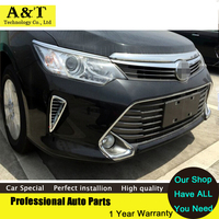 For Toyota Camry 2015 Chrome Front Fog Lamp Light Grille Grill Cover Trim 2pcs High Quality