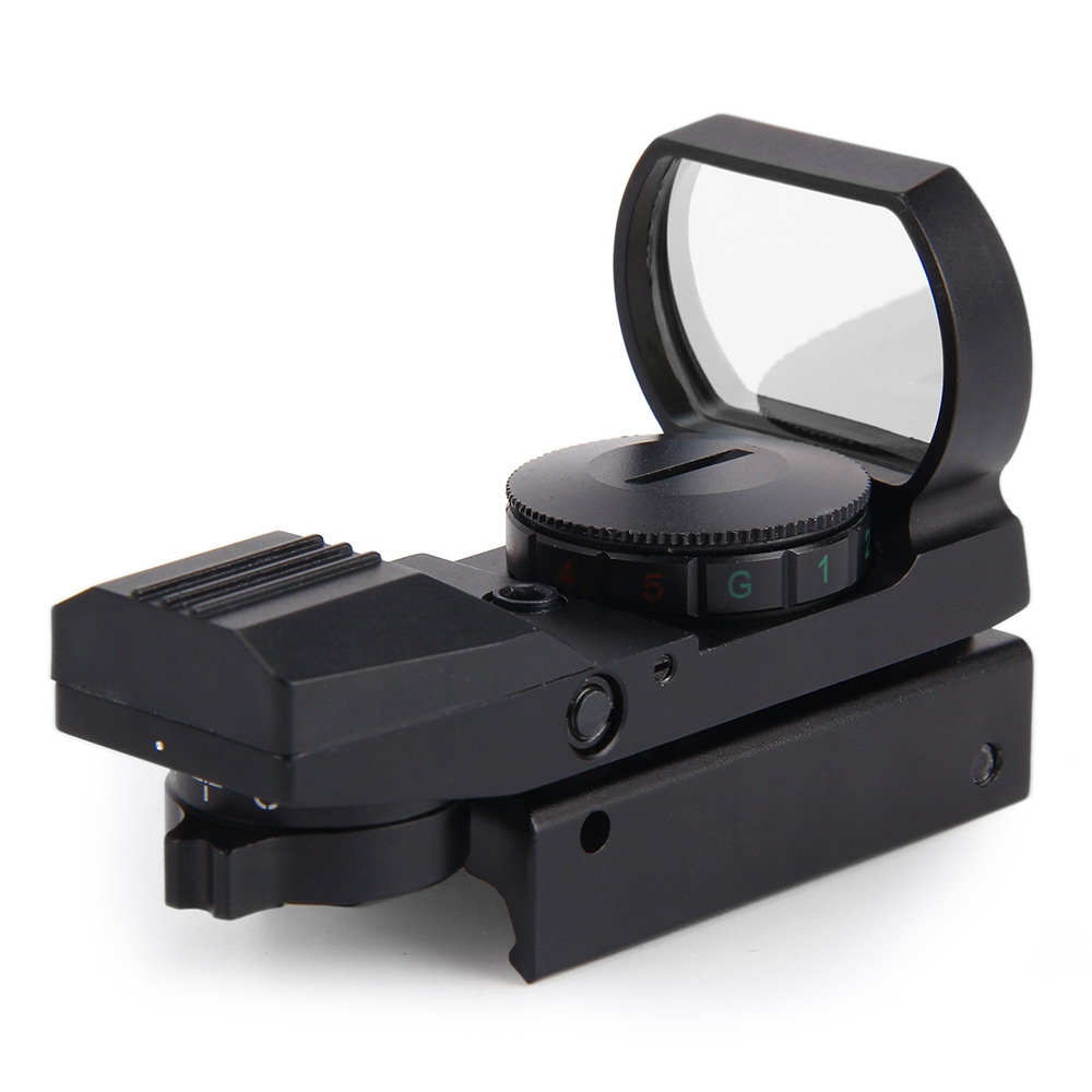 Hunting Tactical Holographic Reflex Red Green Dot Sight Scope 20mm 11 x 22 x 33 Reflex Scope for Sniper Rifle Shotgun