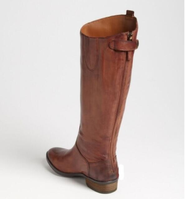 longas botas de volta zipper Botas Legais