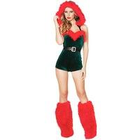 Adult Sexy Santa S Elves Costume Halloween Party Cosplay Green Elf Dress Women Elf Beauty Christmas