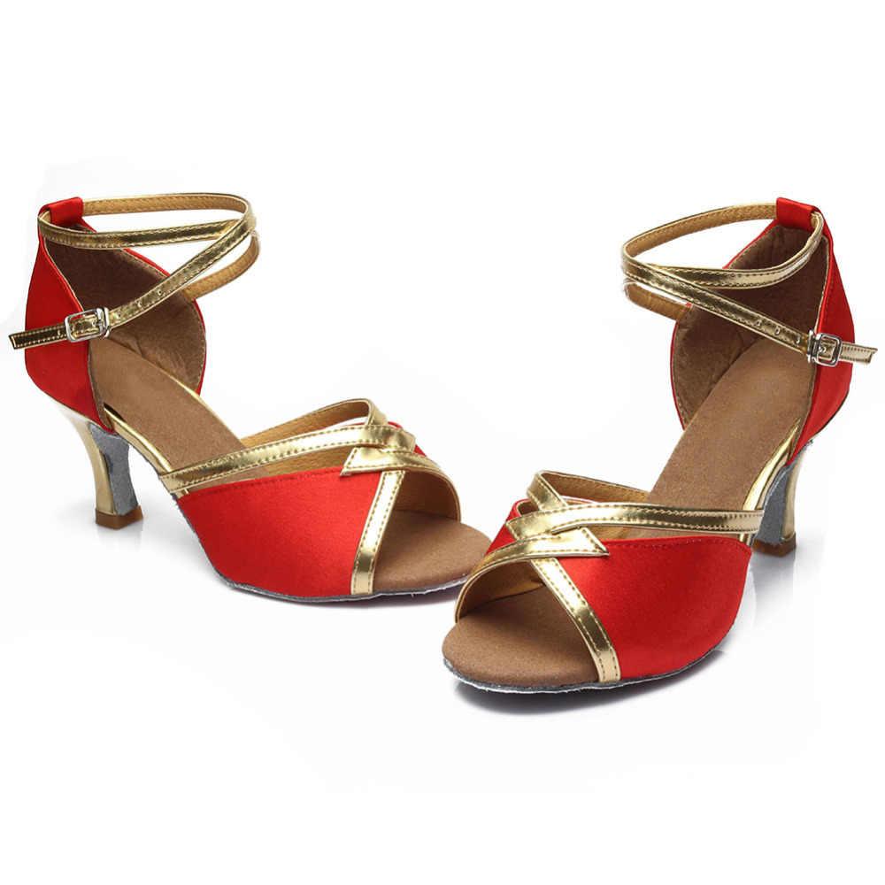 Neue Frauen Latin Dance Schuhe Damen Mädchen Tango Ballsaal Komfortable Rot Latin Dance Schuhe Für Frauen/Damen/Mädchen tango 8 Farben
