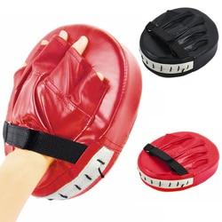 Guantes de boxeo con almohadillas rojos negros para Kick Boxing Muay Thai MMA entrenamiento PU espuma boxer almohadilla de objetivo