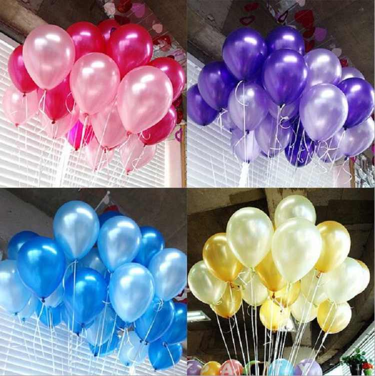balloons 5inches=13cm pearl color for Gift Craft Birthday Wedding Party baby shower favor Decoration DIY Wh