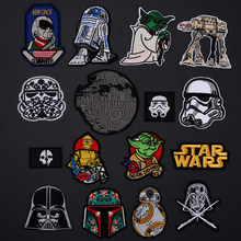 Yoda Storm Trooper BB8 Robot Patches Iron On Star War Appliques Sewing Spider-Man Deadpool Film Badges Jeans Coat Hat Decor