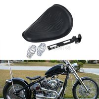 Motorcycle Leatheroid Solo Spring Seat With Flame Pattern For Harley FXS FLS FLSTC FLSTN FLSTF 2008