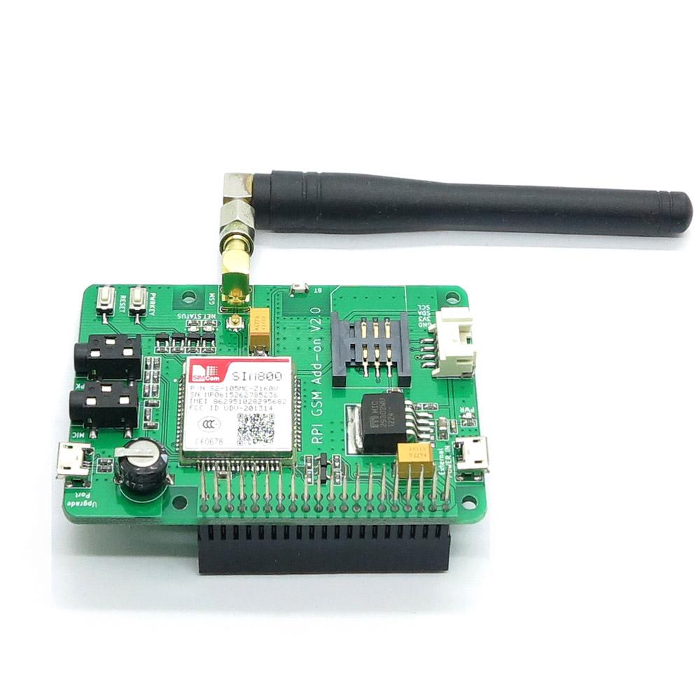 Prix pour Livraison Gratuite Itead Framboise Pi 3 SIM800 GSM/GPRS Module Ajouter-sur V2.0 également pour Raspberry pi 2