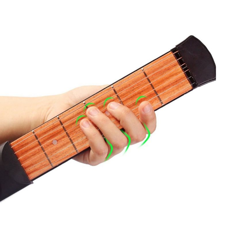 Guitar Parts & Accessories 6 String Fingerboard 6 Fret Chord Trainer Guitar Parts & Accessories Pocket Acoustic Guitar Practice Tool Stringed Instruments