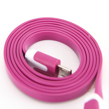 1M USB Noodle Cable Fast Charging Data Sync Line Universal Data CHARGER Cable For Samsung HTC LG Sony Huawei(China)