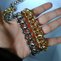 Gold Color Aluminum Chain Little Boy Series Jelly Bags Chain Ancient Silver Coarse Metal Chain Belting