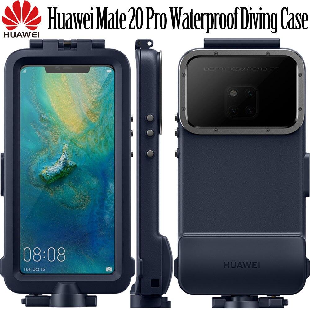 HUAWEI Mate 20 Pro étui de plongée appareil photo Original officiel 360 housse de protection complète HUAWEI Mate 20 pro étui de plongée étanche