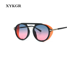 XYKGR new fashion 2019 round sunglasses womens brand designer gradient mens retro UV400