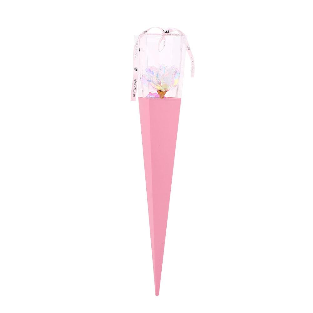 24K Цвет Золото Имитация Розы День Святого Валентина Свадьба для вашего любимого красивый юбилей украшения дома праздник - Цвет: pink box