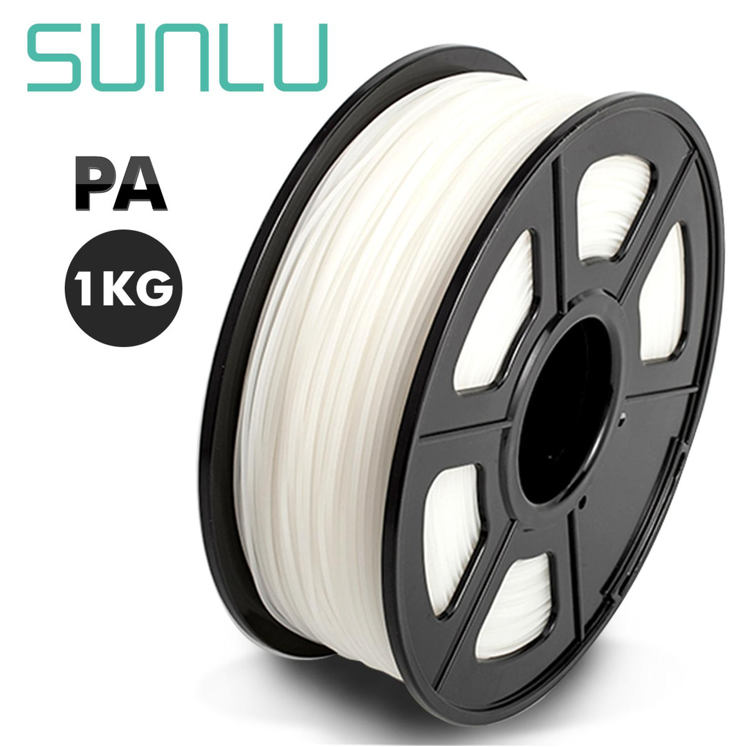 SUNLU 3D Printer Filament transparent PA Nylon filament 1 75mm 1KG 2 2LB with Spool in High Quality and No Bubbles