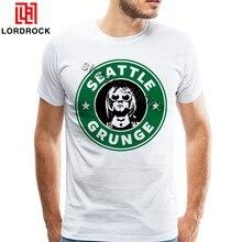 Engraçado camiseta Grunge Kurt Cobain Seattle Camisa de Grandes Dimensões T  Projeto Original Homem Tshirt Impresso 028643d6d77