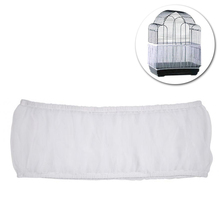 Shell-Skirt Net-Cover Bird-Seed Catcher Mesh for Pet-Products White 1pcs