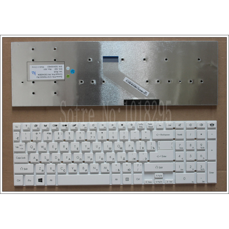 White For ACER E15 E1-510P E1-522G 5755 5755G 5830 5830G 5830T E1-530G E1-532G E1-532P V3-571G V3-571 Russian RU Laptop <font><b>Keyboard</b></font>